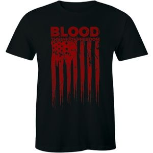Blood The Ink of Freedom T-Shirt US Flag Patriot